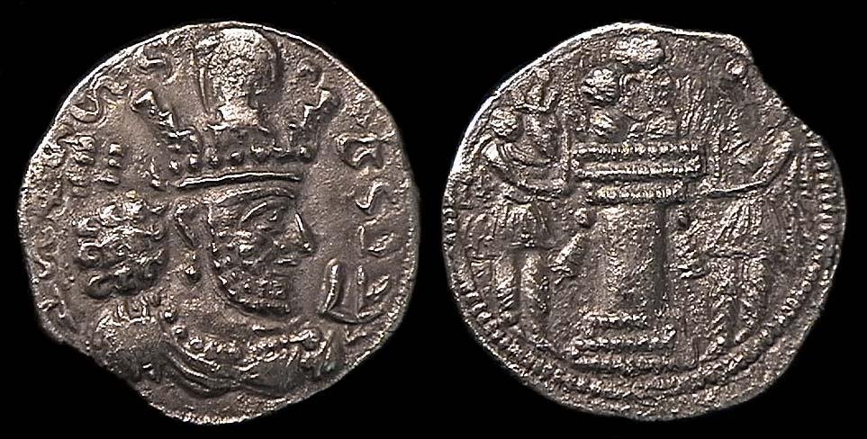 مسكوكات الملك شابور الثاني  Anc-sas-sha2-gi'6-1