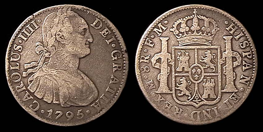 MEXICO Silver 8 Reales K109 1795 F 7900 Sold Things Like This Were The Normal Coins Found In Circulation Early United States