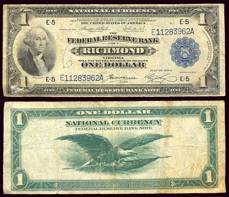 Usa Large Size Currency